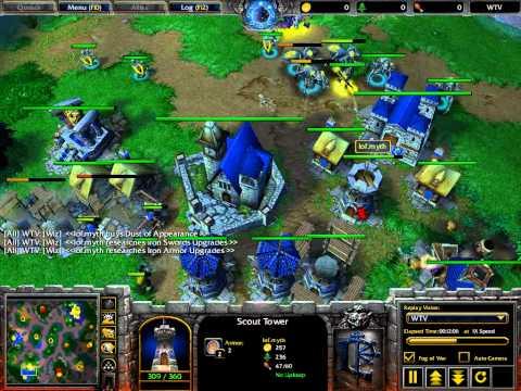 Space (UD) vs Myth (HU) - WarCraft 3 Frozen Throne - WC039
