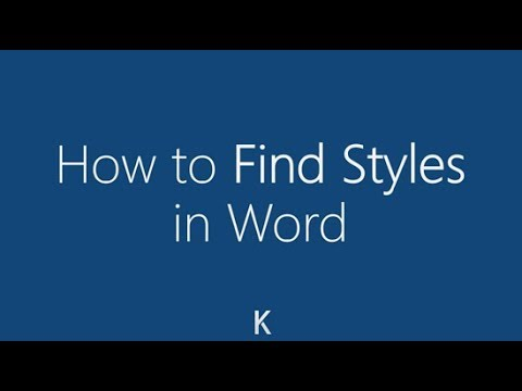 MS Word - How To Find Missing Styles like Heading 2
