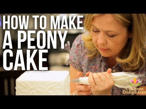 How to Decorate a Peony Cake | Cake Tutorials
