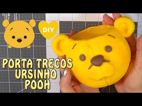 COMO FAZER O PORTA TRECO DO URSINHO POOH PASSO A PASSO | PERSONAGEM | CLAY DIY Cup n Cakes Gourmet