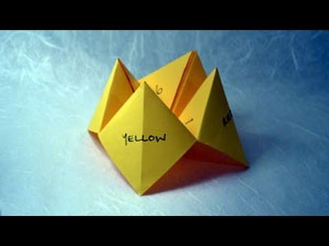 Origami Fortune Teller Instructions: www.Origami-Fun.com