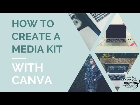 How to create a media kit in Canva /  How to use Canva /  Canva tutorial /  how to make a media kit
