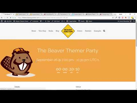 The Events Calendar plugin with Beaver Themer - New in V1.1 (alpha)