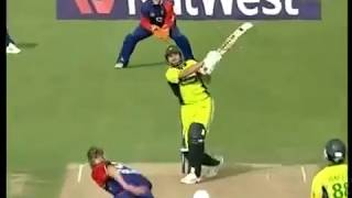 Shahid Afridi first ever T20 International innings 2006 (Rare)