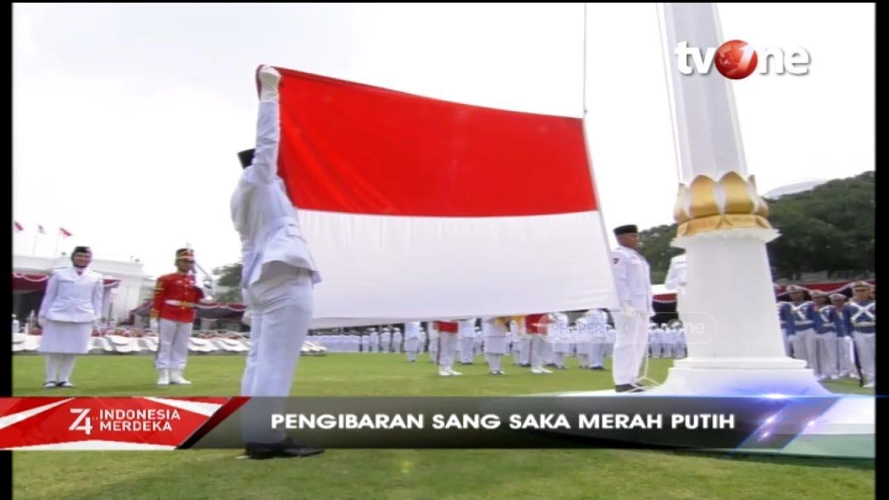 Upacara Pengibaran Bendera HUT ke-74 Kemerdekaan RI di Istana Negara (17/8/2019)