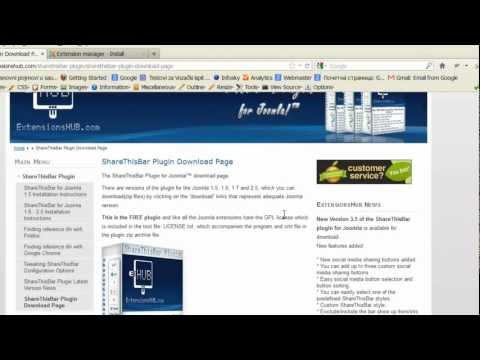 Add social media buttons to Joomla site - ShareThisBar social media plugin