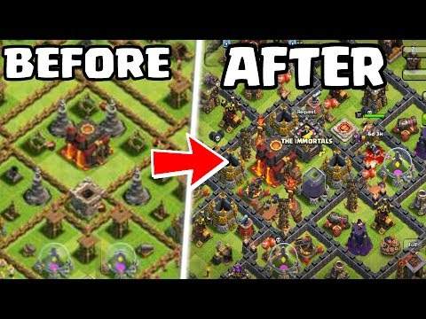 How to fix RUSHED BASE In Clash of clans !!