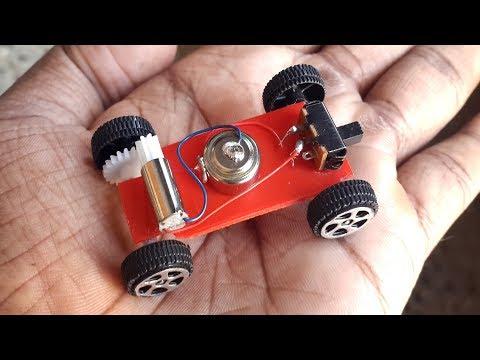 Wow! Amazing DIY Mini Electric Car(Just 8 grams) - Super Fast Car