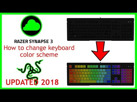 (2018) HOW TO CHANGE KEYBOARD COLOR IN RAZER SYNAPSE 3.0
