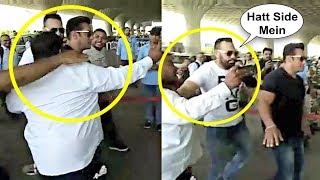 Salman Khan Bodyguard Shera Pushes Fan At Airport