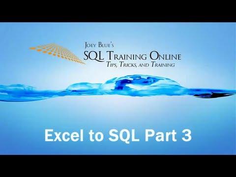SQL Training Online - Excel to SQL Server - Part #3 - Bulk Insert