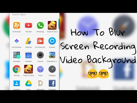 How to change video's background | How to change screenrecord background.