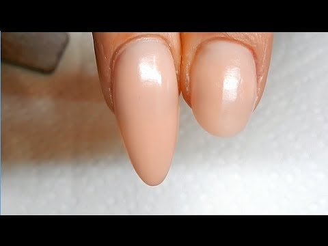 How to SHORTEN Dual Form Nails -------- Use these as Nails Beds !