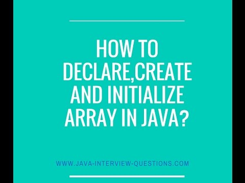 How to declare,instantiate and initialize array ?
