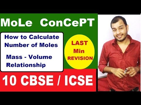 Mole ConcepT 01 | How To CalcuLate Number of Moles | Mass Volume Relationship | Revision