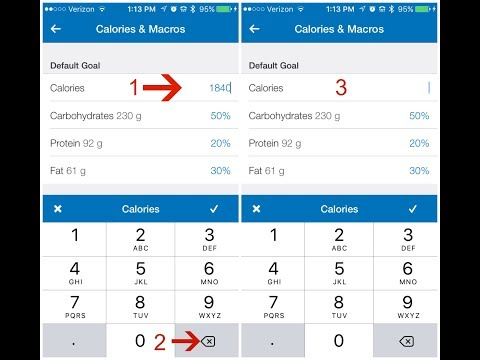 How to adjust calories and macros on MyFitnessPal