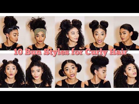 Natural Hair | 10 Bun Styles for Curly Hair | jasmeannnn