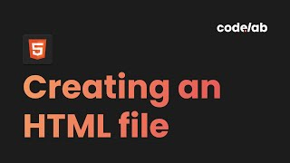 HTML \u0026 CSS: Creating and Viewing an HTML File