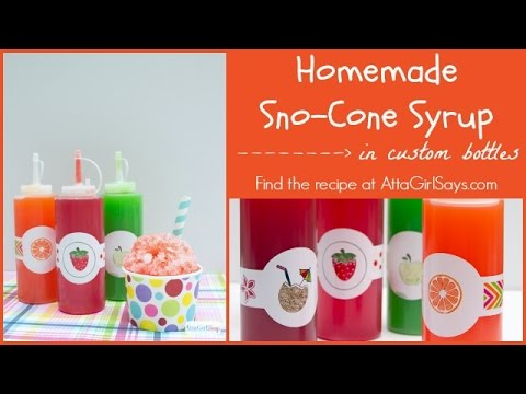 Homemade Sno-Cone Syrup & Custom Bottles