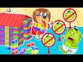 Lion Family | Don't Break My Lego Playhouse ! Let's Play Together ! Cartoon for Kids