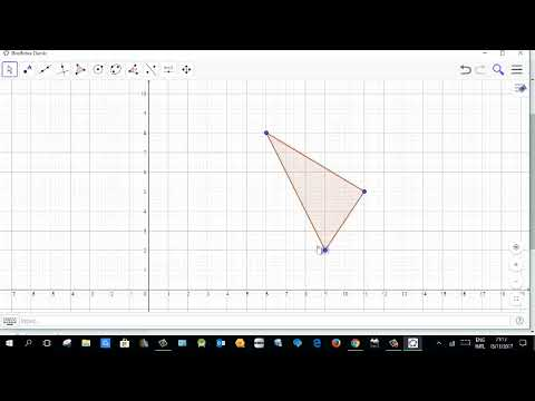 Geogebra Basics with contruction of a right angle triangle
