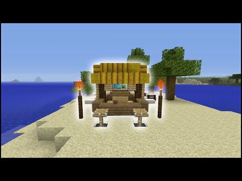 Minecraft Tutorial: How To Make A Tiki Bar