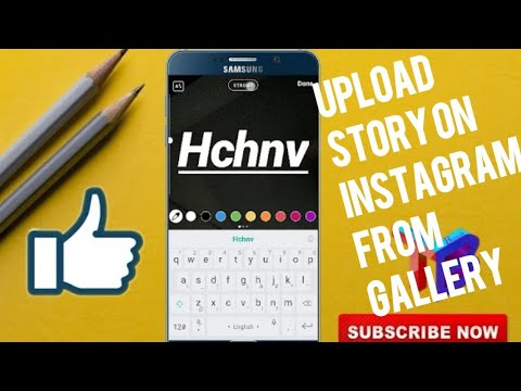 How to upload story on instagram From Gallery in Hindi || Tech bunch