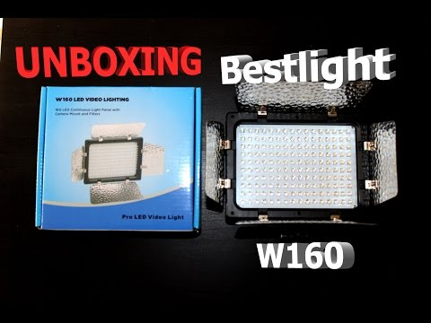 Neewer Bestlight W160 Video LED Light (Unboxing)