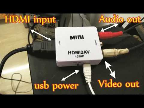 Your Old crt  tv into pc monitor using mini hdmi to av converter