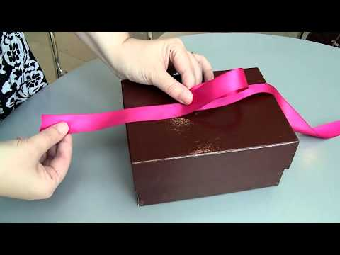 Do it yourself! How to Tie a Perfect Gift Box Bow Like the PROS