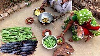 Farm Fresh Nal Daga Sheem & Singi Fish Recipe | Sheem diye Macher Jhol | Healthy Food Recipe
