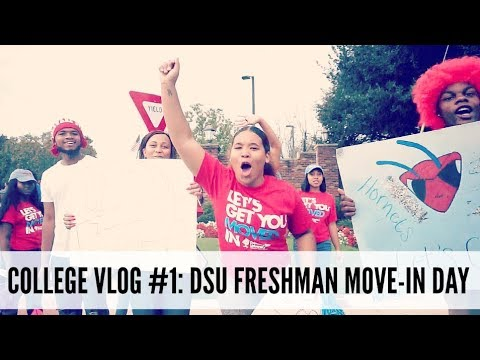 COLLEGE VLOG #1: DSU FRESHMAN MOVE-IN DAY