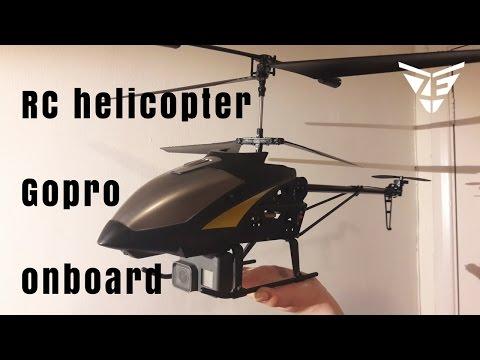 Big RC Helicopter with onboard GoPro hero 5 test