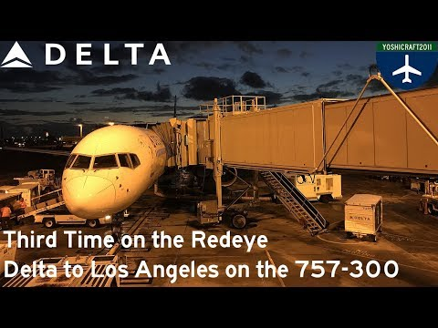 Third Time on the Redeye - Delta to Los Angeles on the 757-300 (DL1212, HNL-LAX)