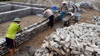Smart Techniques Construction Brick Wall Using Sand And Cement Step by Step