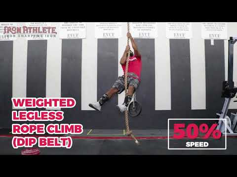 Weighted Legless Rope Climb
