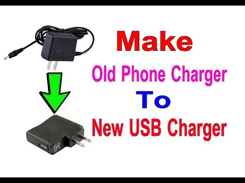 How to convert old cell phone charger to new USB charger