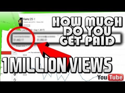 How Much Youtubers Get Paid For A Million Views??? 1 Million Views Milestone- Kamz 25