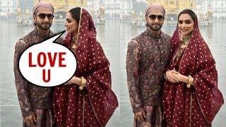 Deepika Padukone & Ranveer Singh ROMANTIC Moment Taking Blessings At Golden Temple