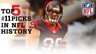 Top 5 #11 Draft Picks In NFL History | #CountdownToKickoff | NFL