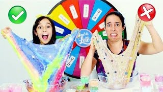 ROLETA MISTERIOSA MISTURANDO SLIME ★ The Mystery Wheel of Slime Challenge com a Mamãe