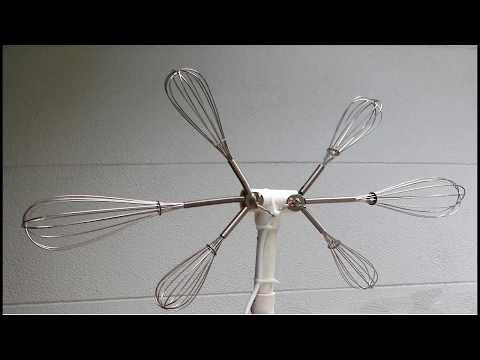 Eggbeater TV Antenna. Do it yourself homemade! 2, 4, 6 eggbeaters (whisk)