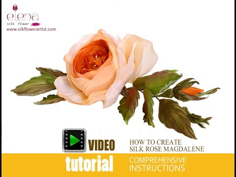 How no make silk flowers - video tutorial
