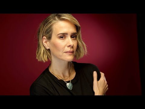 Sarah Paulson says of her first acting performance, 'It was like I had a neck brace'
