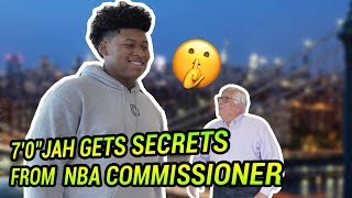 """7'0"""" 8th Grader Jah Jackson Gets REAL With David Stern! Talks Blue Chips & Making The League 👀"""