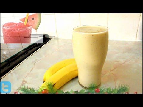 Over  ripe banana smoothie with Ice cream.