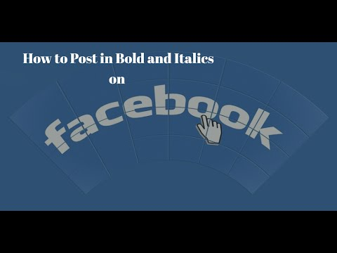 How to Post in Bold and Italics on Facebook | Post in Bold on Facebook | Post in Italics on Facebook