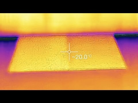 Infrared Look at Basement Subfloor Panels