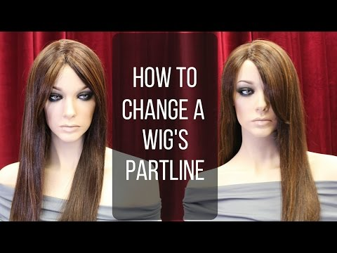 DIY How To Change a Wig's Hair Part Line with an Iron   - DoctoredLocks.com