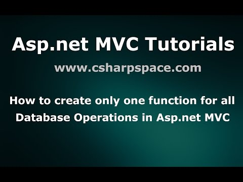 Create Only One function for all database operations in Asp.net -  MVC